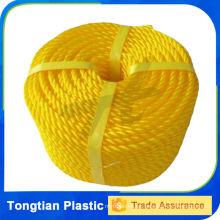 Hilo trenzado del PE de la cuerda del polietileno del PE de la torcedura de 3 filamentos