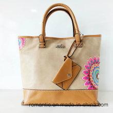 China Supplier Women Fashion PU Pringting Handbags (NMDK-041814)