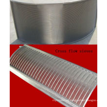 Sizing solids vee wire welded cross flow sieves