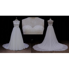 Sequins en mousseline de soie robe de mariée 2016