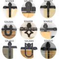 Amerika-Art hölzerne gleitende Scheunentor-Hardware / schwarzer Kohlenstoffstahl, der Scheunen-Tür-Hardware schiebt