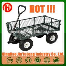 Reboque de vagão de aço jardim malha ferramenta carrinho vagão de jardim TC1859