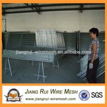 Оцинкованный сварной шов временного забора (производство джангруи)