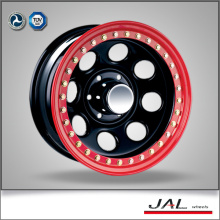 Black Finish 4x4 Wheels Rodas Chrome Rodas Reboque Roda com Beadlock