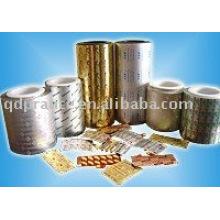 Embalaje farmacéutico papel de aluminio