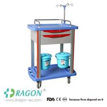 Trole de tratamento hospitalar de baixo custo DW-TT005 com prateleira lateral deslizante