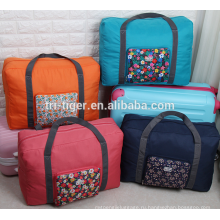 Polyester Large Capacity Multifunctional Foldable Clothes Travel Bag with Trolley Slot for Luggage