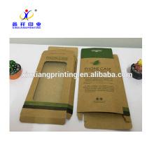 Boîte adaptée aux besoins du client d'emballage de papier de cas de téléphone portable avec l'étiquette accrochante d'affichage