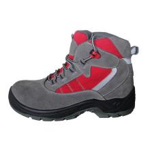 Кожа обувная & Оксфорд обувь безопасности ткани с сетчатая подкладка (HQ05019)