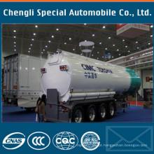 Reboque do tanque de óleo cru do petroleiro de óleo de 20k litros 3-Axles semi