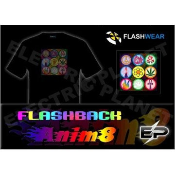 [Stunningly]Wholesale fashion hot sale T-shirt A106,el t-shirt,led t-shirt