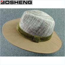Chapeau en bonnet à larges bords en laine marron chaude