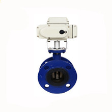 24v 220v dn250 cast iron 10 inch electric actuator flange butterfly valve for cement
