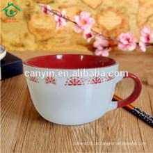 2015 Promotion Steingut Mittlere Temperatur Porzellan Nudel Tasse