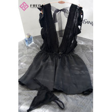 Best quality Low price for Lace Nightdress,Sexy Wedding Lingerie,Women'S Sexy Chemises,Sexy Lace Lingerie Wholesale From China Sexy Black Lotus Bride's lingerie export to South Korea Manufacturers