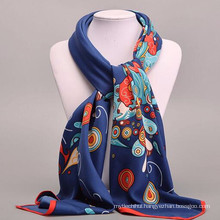 Comfortable Pretty women 100*100cm print square scarf wholesale women design silk scarves silk