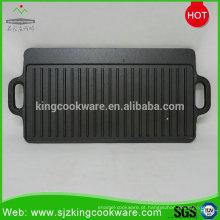 Chapa de churrasqueira reversível ao ar livre em ferro fundido