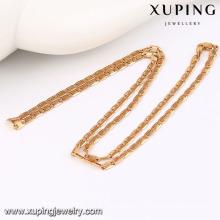 42942 moda charme simples rose banhado a ouro imitação liga de cobre jóias colar de corrente