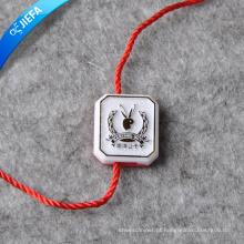 Fornecimento de etiqueta de cristal de plástico e pendurar Tag com corda