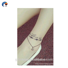 Simple Word sticker body tattoo, temporary custom design with amazing style in YinCai