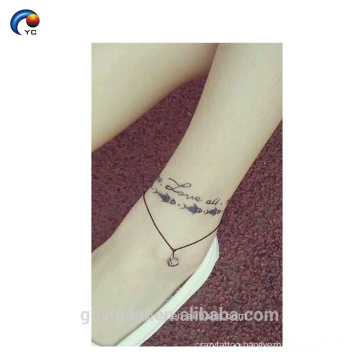 Simple Word sticker body tattoo, temporary custom design with amazing style in YinCai
