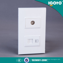 Igoto American Style B306 Prise de données RJ45 + connecteur TV