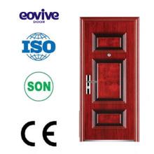 Qualité supérieures six panneaux décoratifs en acier portes de sécurité