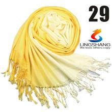 Lingshang nuevo llega el otoño y el invierno del resorte del padre de gran tamaño alarga la bufanda del mantón de la estola de la manera del color sólido de la manera de las mujeres de la bufanda