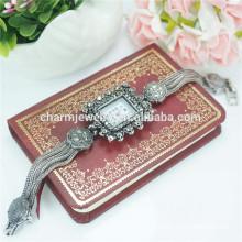 Горячие продажи моды Rectangle сплава цифровые наручные часы для женщин B036