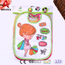 promotion super soft polyester embroidered baby bibs