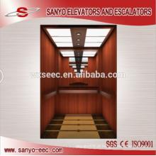 Elevador de elevador de passageiros de paredes de madeira
