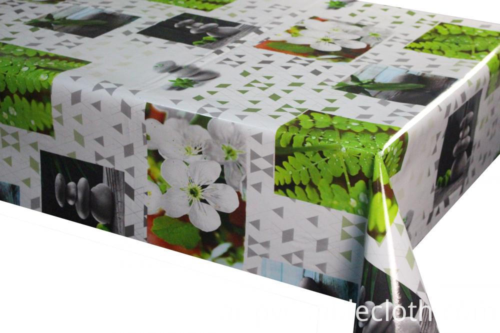 PVC/PEVA Printed Tablecloth with Tnt Backing