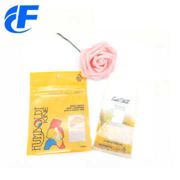 Cheap custom printed powder bag with ziplock