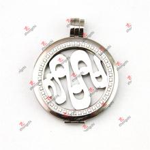 38 mm de cristal de acero inoxidable monedas colgantes encantos colgante (ssl50925)