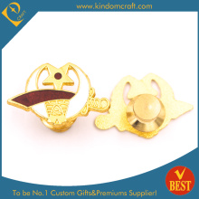 National Emblem Police Badge with Gold Plating From China