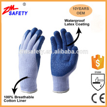 Wholesale Heavy Duty Industrial Cotton Lined Latex Gloves with Textured Rubber Coating