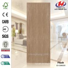 JHK-F01 De alta calidad de gran tamaño 4 mm de textura recta Malasia MDF EV OAK Door Skin Suppiler