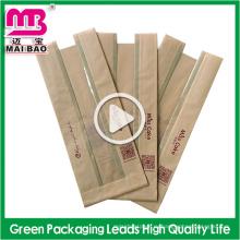 Высокое качество Non-токсичные встать крафт-бумаги, пакеты для хлеба с окном поставщик Гуанчжоу