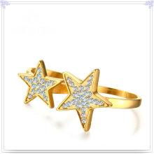 Crystal jóias acessórios de moda anel de aço inoxidável (SR826)