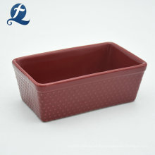 Utensilios para hornear antiadherentes de gres personalizados de cerámica rectangular