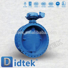 Didtek Triple Offset Worm Gear Operate Double Flanged End Butterfly Valve