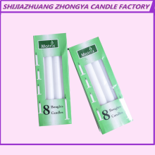 Home decoration wax bright white plain stick candle