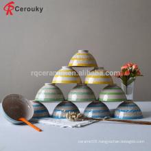 Promotional glaze ceramic rice bowl,ceramic stoneware rice serving bowl,glaze rice bowl