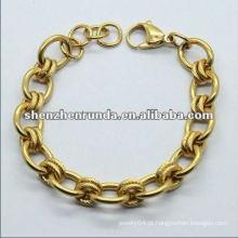 Novo chegam charme meninas ouro pulseiras