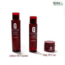 Bouteille cosmétique vide couleur rouge pour animaux de compagnie