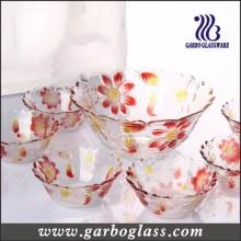 Decorative Glass Storage Bowl for Candy/7PCS Salad Bowl Set/Glassware