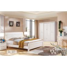 Suite de meubles de chambre à coucher en bois massif moderne