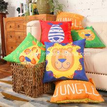 Moda de camurça de alta qualidade dos desenhos animados impresso travesseiro por atacado decoração de casa