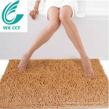 Artigos de decoração 100% poliéster lavável telhas do tapete do banheiro