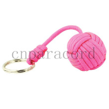 pink paracord monkey fists, all size steel ball
